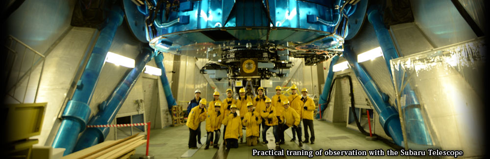 Practical traning of observation with the Subaru Telescope1